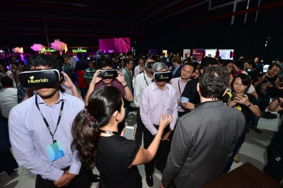 Singapore IMDA launch event 360 VR multi user classroom education